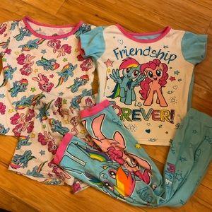 My Little Pony Pajamas Lot (4)